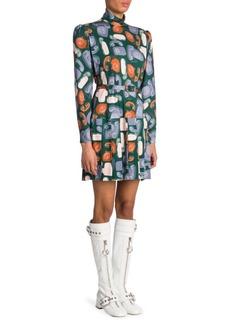Miu Miu Telephone Print Mini Dress