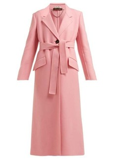 Miu Miu Tie-waist single-breasted wool coat