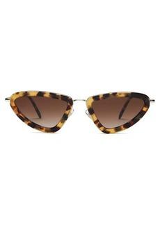 Miu Miu Triangular cat-eye acetate-frame sunglasses