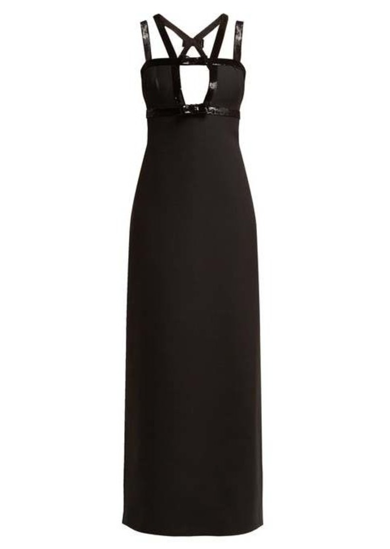 Miu Miu Tricotine wool and silk-blend gown