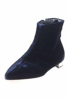 Miu Miu Velvet Pearly-Heel Bootie