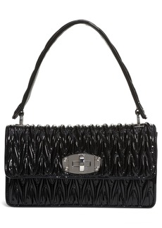 Miu Miu Vernice Matelassé Quilted Leather Shoulder Bag