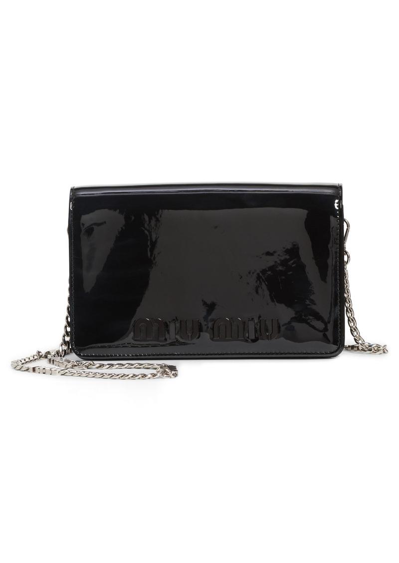 eb1d67477d68 Miu Miu Miu Miu Vernice Patent Leather Crossbody Bag