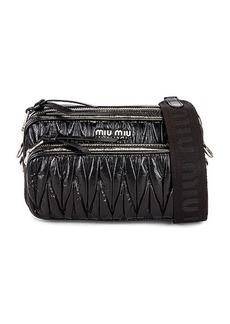 Miu Miu Vitello Shine Matelasse Camera Bag