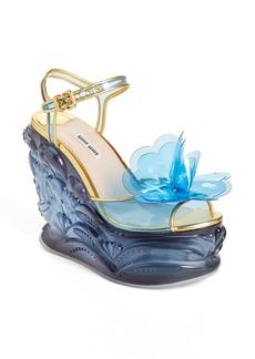 Miu Miu Wedge Sandal (Women)