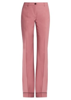 Miu Miu Wide-leg stretch-wool trousers