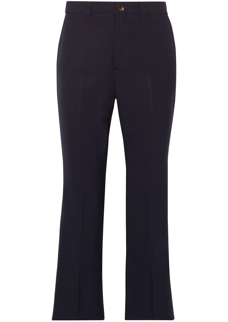 Miu Miu Woman Wool-blend Kick-flare Pants Midnight Blue