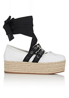 Miu Miu Women's Buckled-Strap Leather Sneakers
