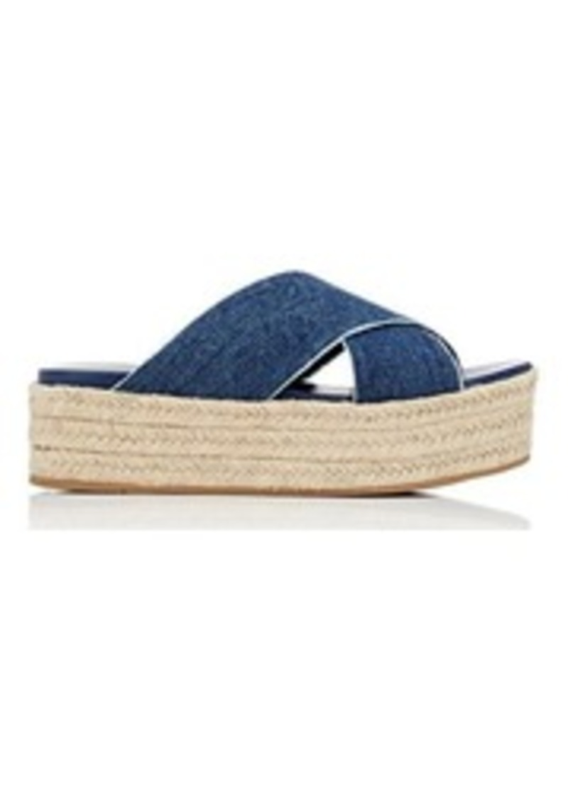 e20027be5ad5 Miu Miu Miu Miu Women s Denim Espadrille Platform Sandals