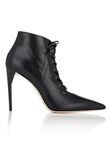 Miu Miu Women's Leather Lace-Up Ankle Boots
