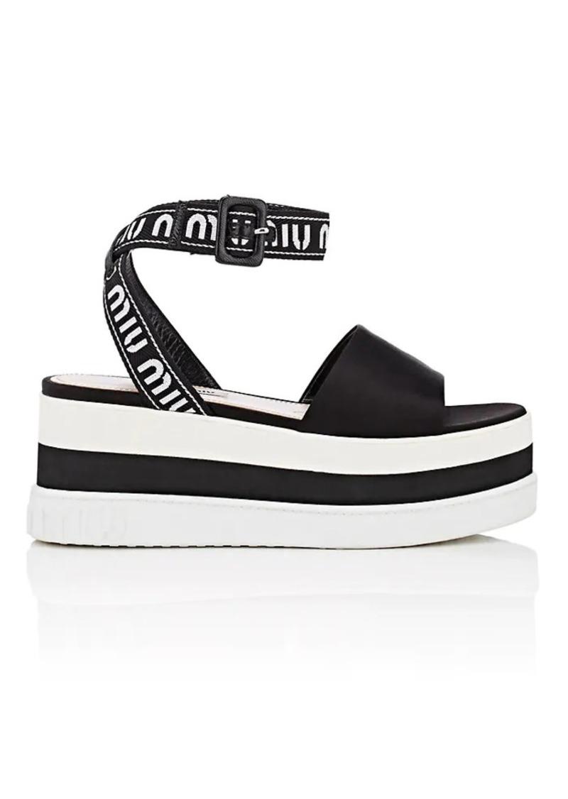 53be44cb0006 Miu Miu Miu Miu Women s Logo Platform Sandals