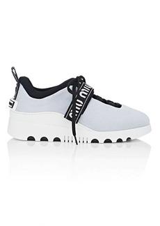 Miu Miu Women's Logo-Strap Platform Sneakers