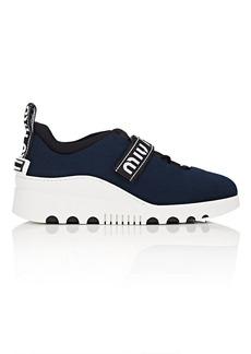 Miu Miu Women's Logo-Strap Tech-Knit Platform Sneakers