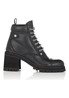 Miu Miu Women's Lug-Sole Leather Ankle Boots