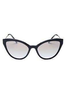 Miu Miu Women's Mirrored Cat Eye Sunglasses, 55mm