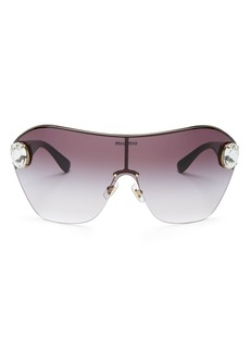 Miu Miu Women's Mirrored Shield Sunglasses, 190mm