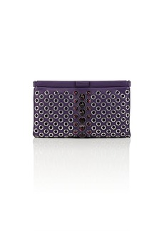 Miu Miu Women's Embellished Leather Clutch - Purple