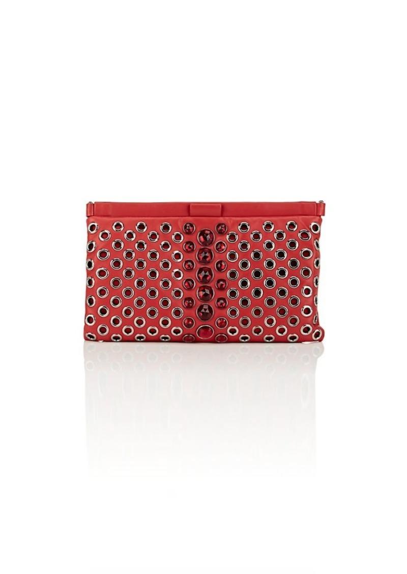 3b9505294e2 Miu Miu Miu Miu Women s Embellished Leather Clutch - Red   Handbags
