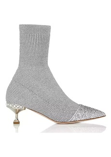 Miu Miu Women's Rib-Knit Sock-Style Ankle Boots