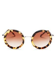 Miu Miu Women's Round Sunglasses, 48mm