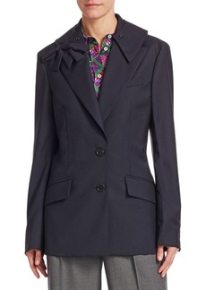 Miu Miu Wool Blend Fitted Blazer
