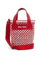 Miu Miu Woven leather bucket bag
