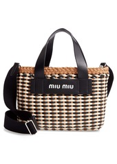 Miu Miu Woven Leather Satchel