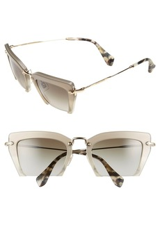 Miu Miu 'Noir' 54mm Cat Eye Sunglasses