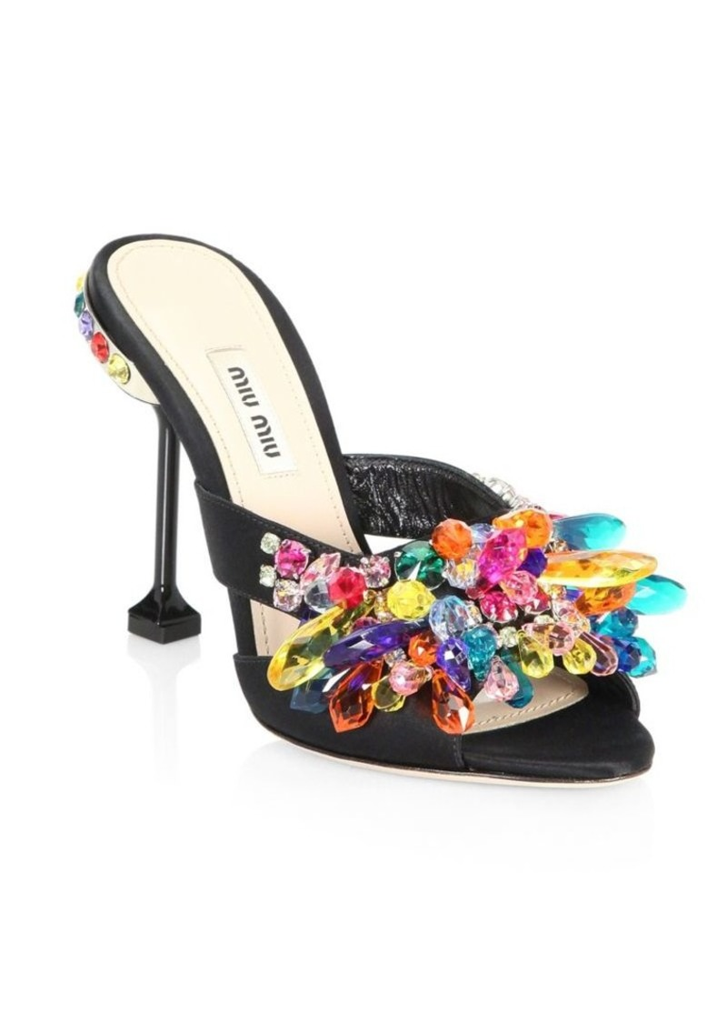 a26654d6aed8 On Sale today! Miu Miu Multicolor Crystal Mules