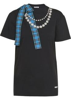 Miu Miu necklace chain jersey T-shirt