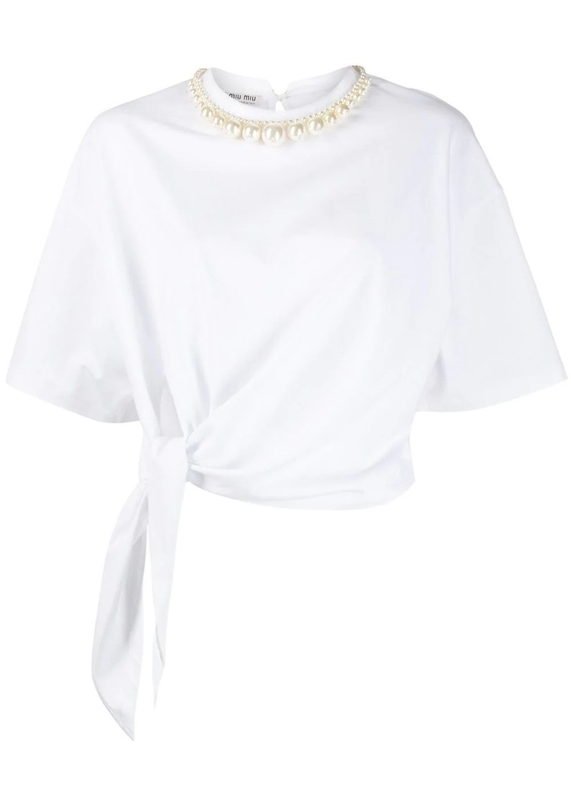 Miu Miu necklace detail T-shirt