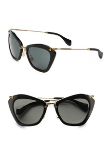 Miu Miu Noir Catwalk Cat Eye Sunglasses
