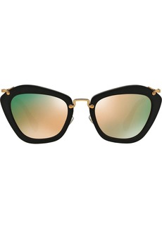 Miu Miu Noir mirrored cat eye sunglasses