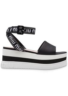 Miu Miu Nylon platform sandals