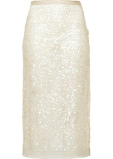 Miu Miu Nylon sequin sheath skirt