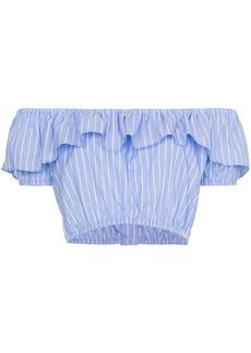Miu Miu off-shoulder strap cropped top
