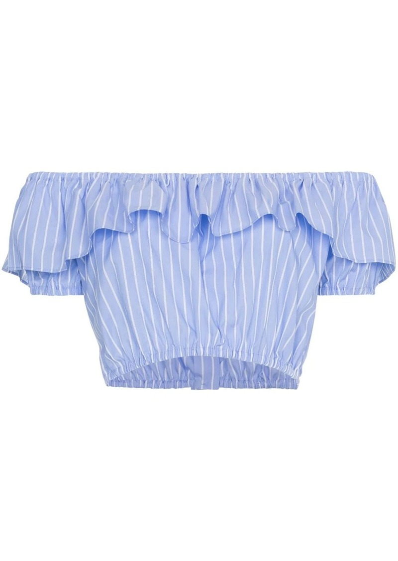 Miu Miu off-shoulder strap cropped top