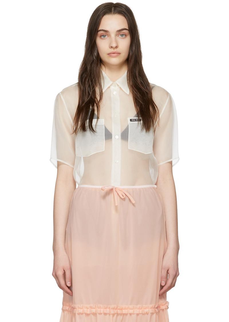 Miu Miu Off-White Organza Shirt