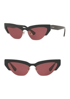 Miu Miu OMU 04US 59MM Cat Eye Wrap Sunglasses