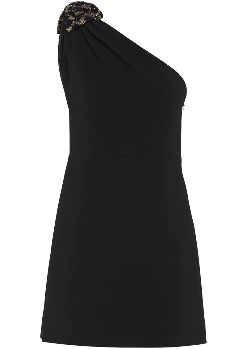 Miu Miu one-shoulder bow detail mini dress