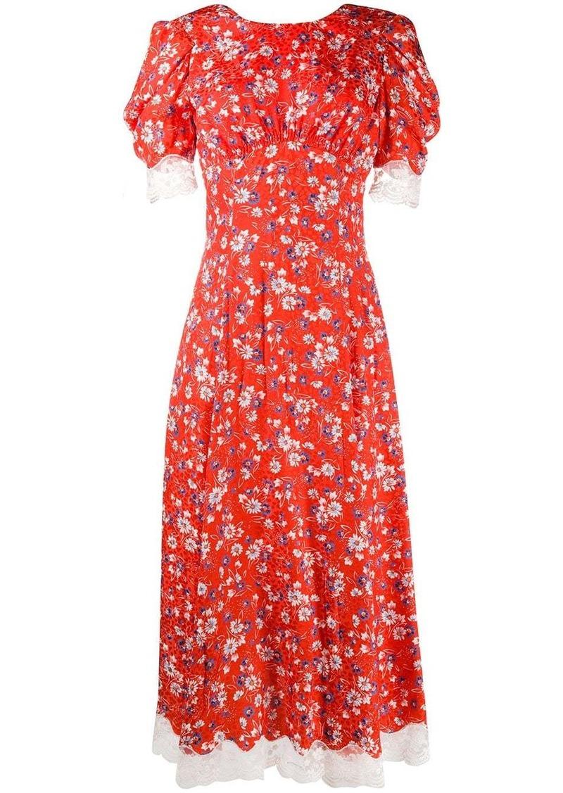 Miu Miu open back floral print dress