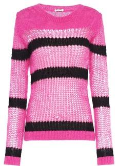 Miu Miu open-weave mohair pullover