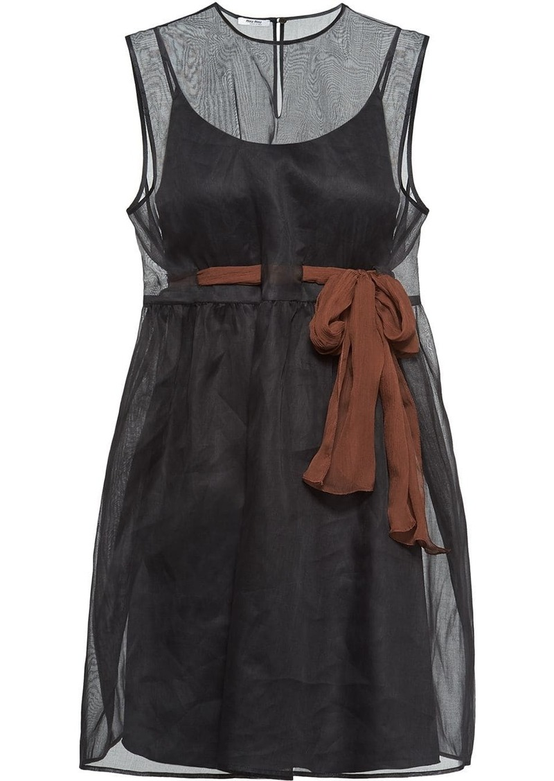 Miu Miu Organdie sheer dress