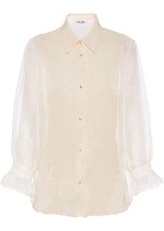 Miu Miu organza sequinned blouse