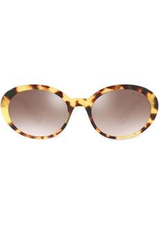 Miu Miu oval tortoiseshell sunglasses