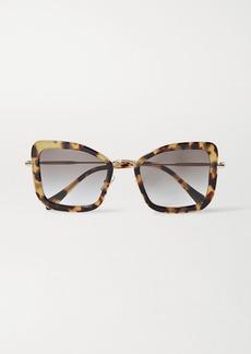 Miu Miu Oversized Cat-eye Tortoiseshell Acetate And Gold-tone Sunglasses