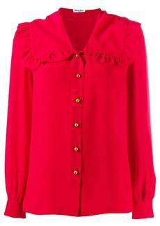 Miu Miu oversized frill collar shirt