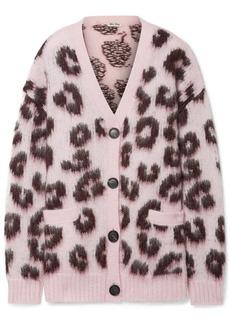 8f7c30daf3e Miu Miu Oversized Leopard-print Mohair-blend Cardigan