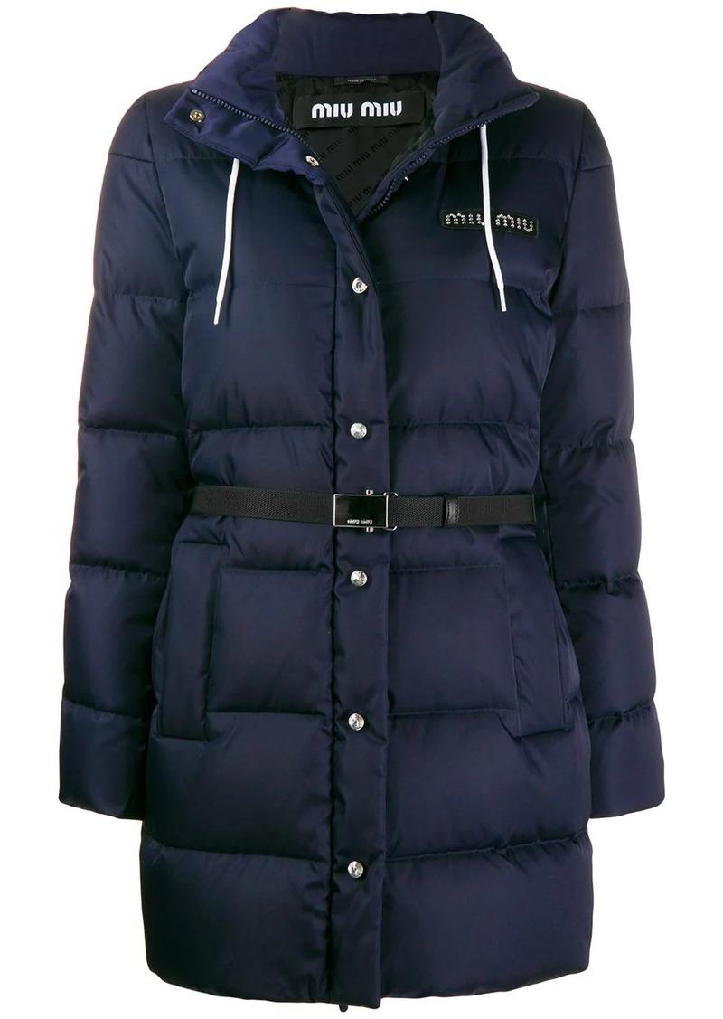 Miu Miu padded logo patch jacket