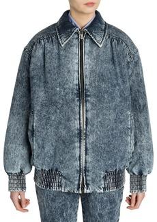 Miu Miu Padded Oversized Washed Denim Jacket